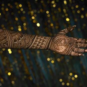 Henna Design on Hand and Arm