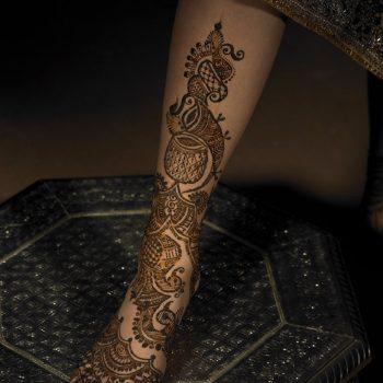 Henna Design on leg