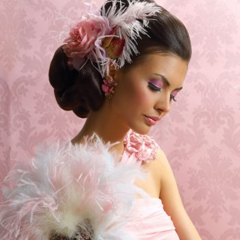 Pink Feather Look